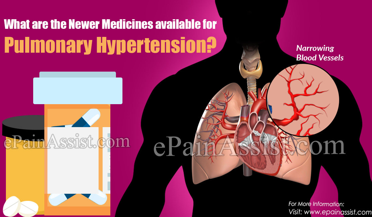 What are the Newer Medicines available for Pulmonary Hypertension?