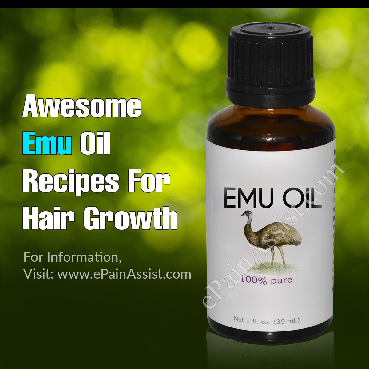 3 Awesome Emu Oil Recipes For Hair Growth