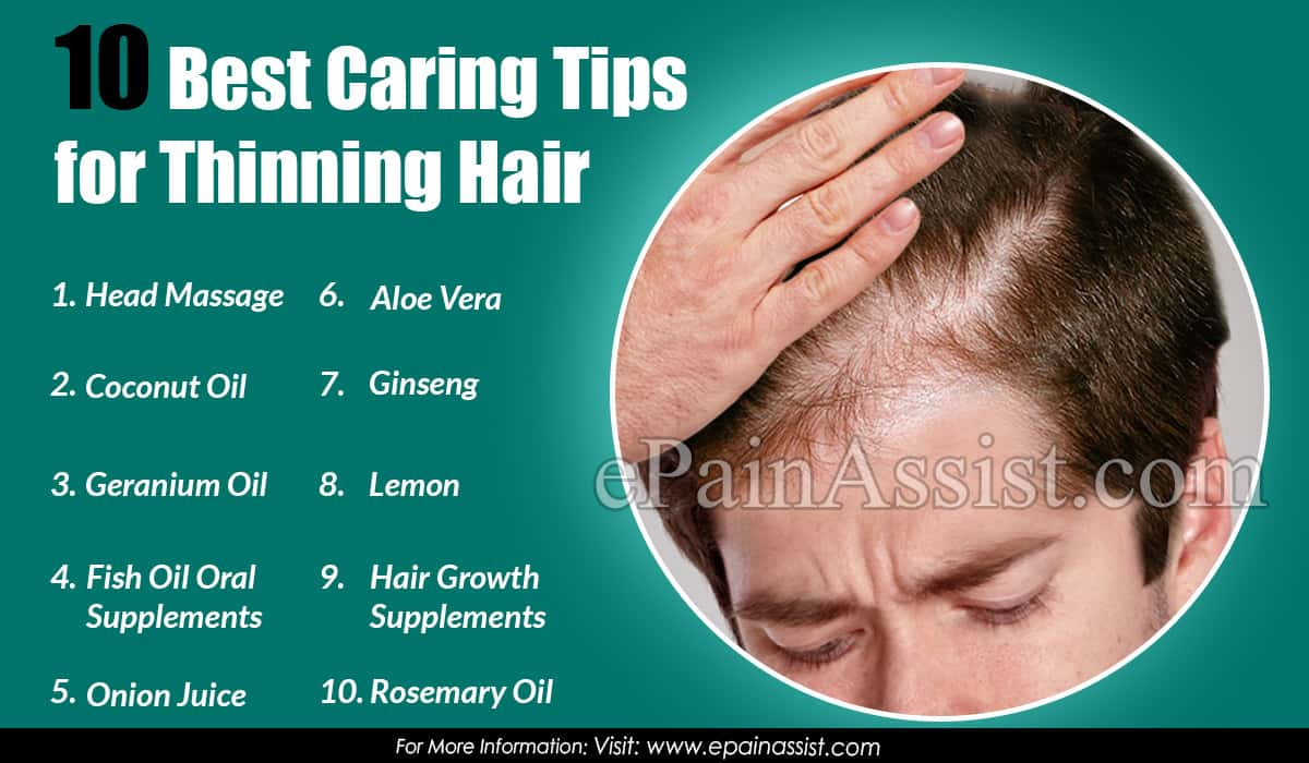 10 Best Caring Tips For Thinning Hair
