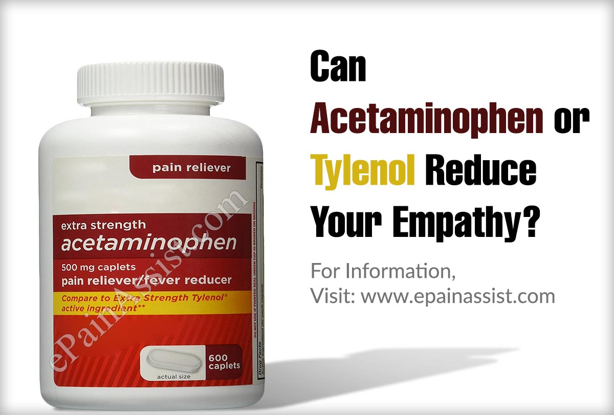 can acetaminophen or tylenol reduce your empathy