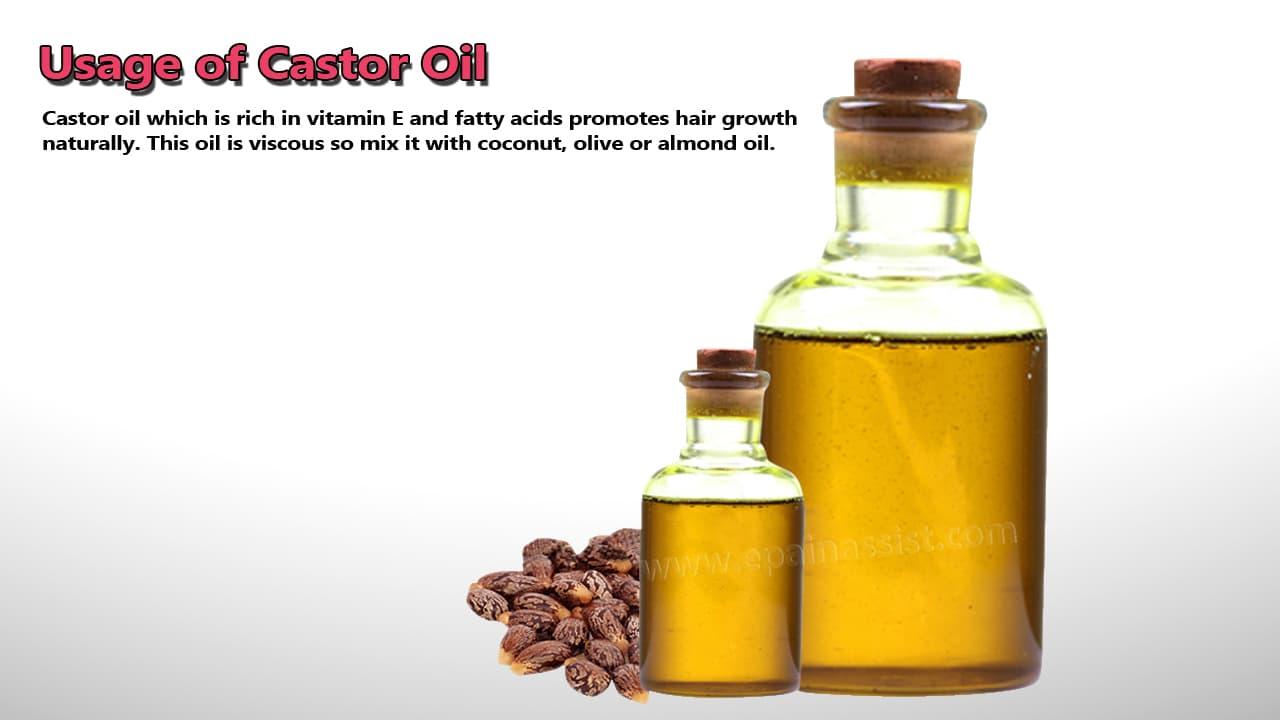Usage of Castor Oil for Hair Growth