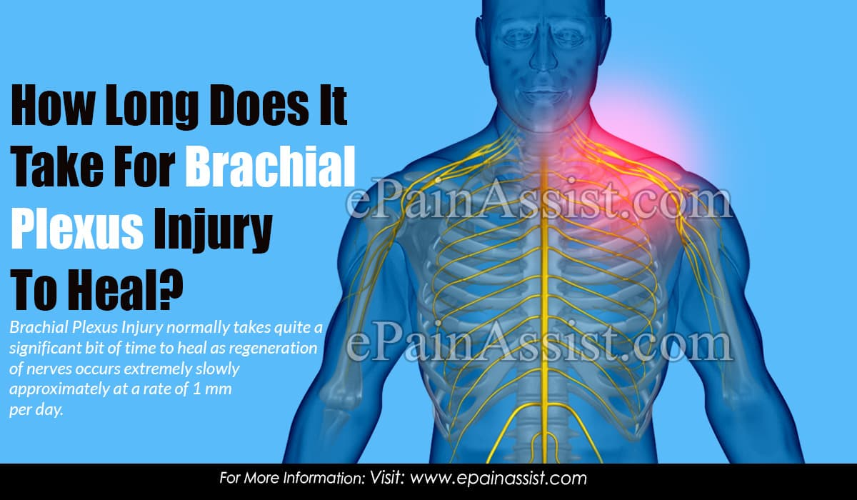How Long Does It Take For Brachial Plexus Injury To Heal?