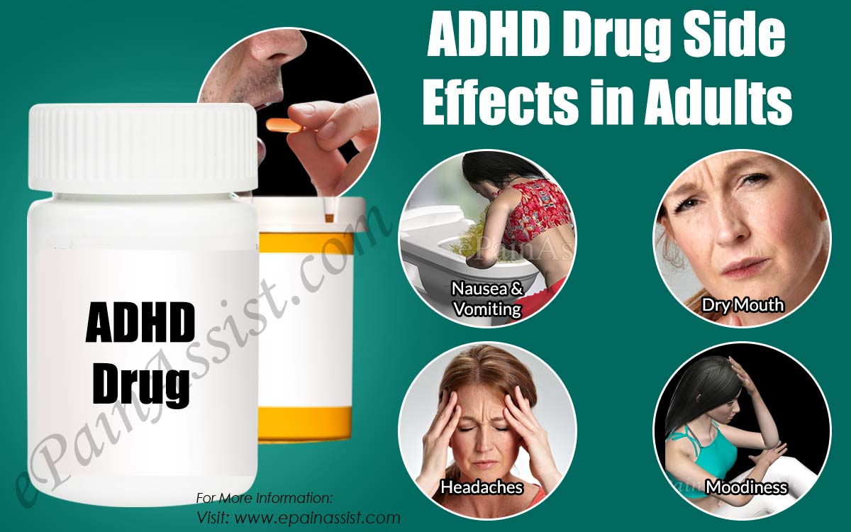 ADHD Drug Side Effects in Adults