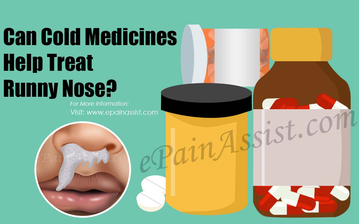 Can Cold Medications Help Treat Runny Nose Best