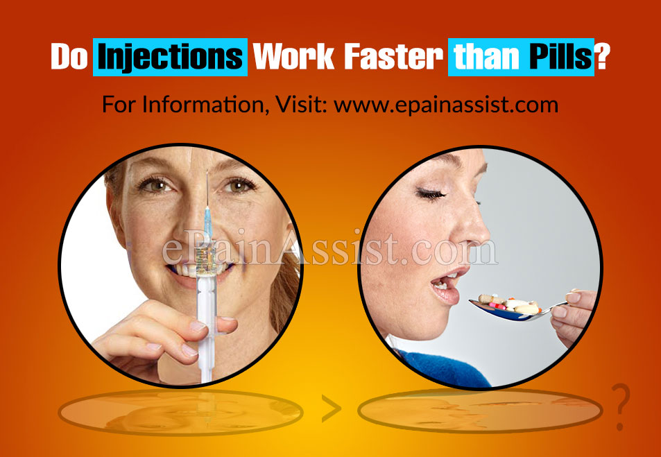 Do Injections Work Faster Than Pills?