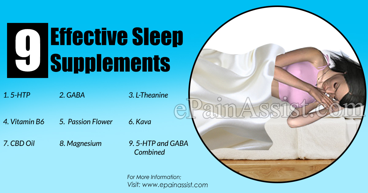 9 Effective Sleep Supplements