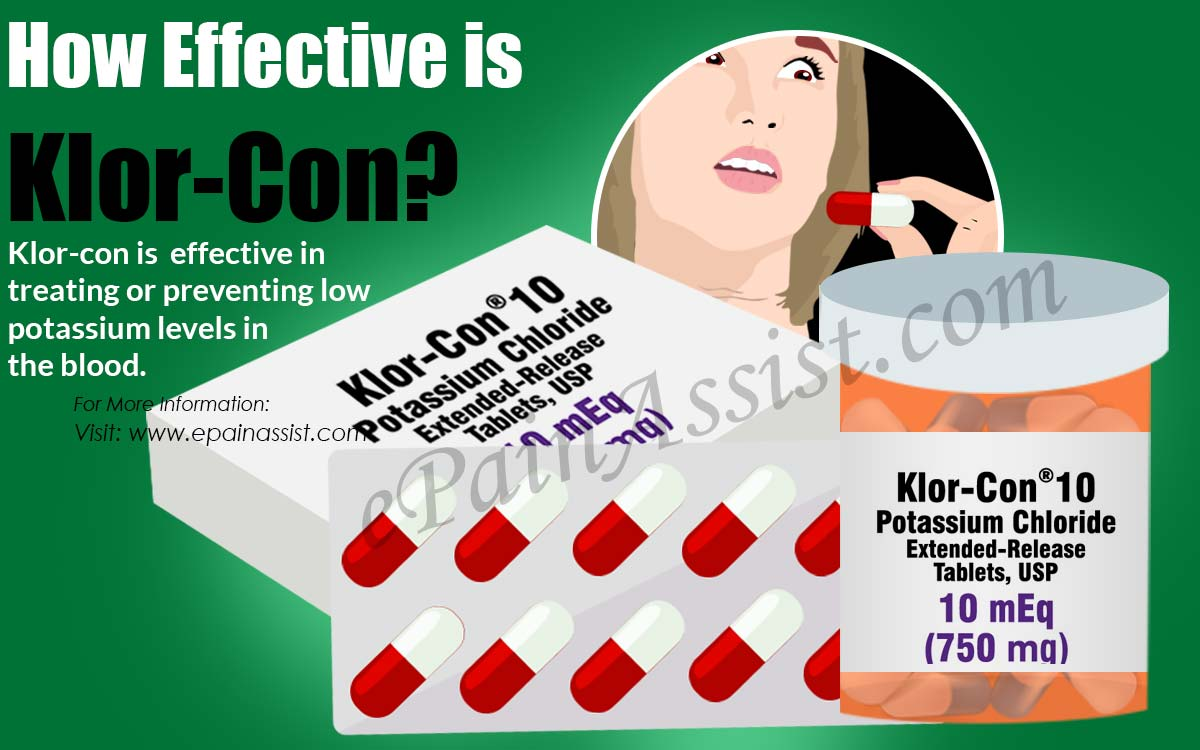 How Effective is Klor-Con?