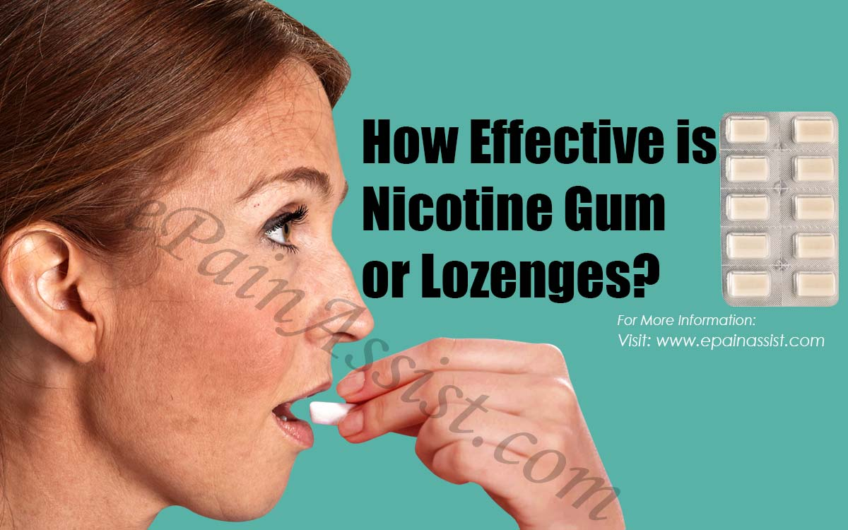 How Effective is Nicotine Gum or Lozenges?