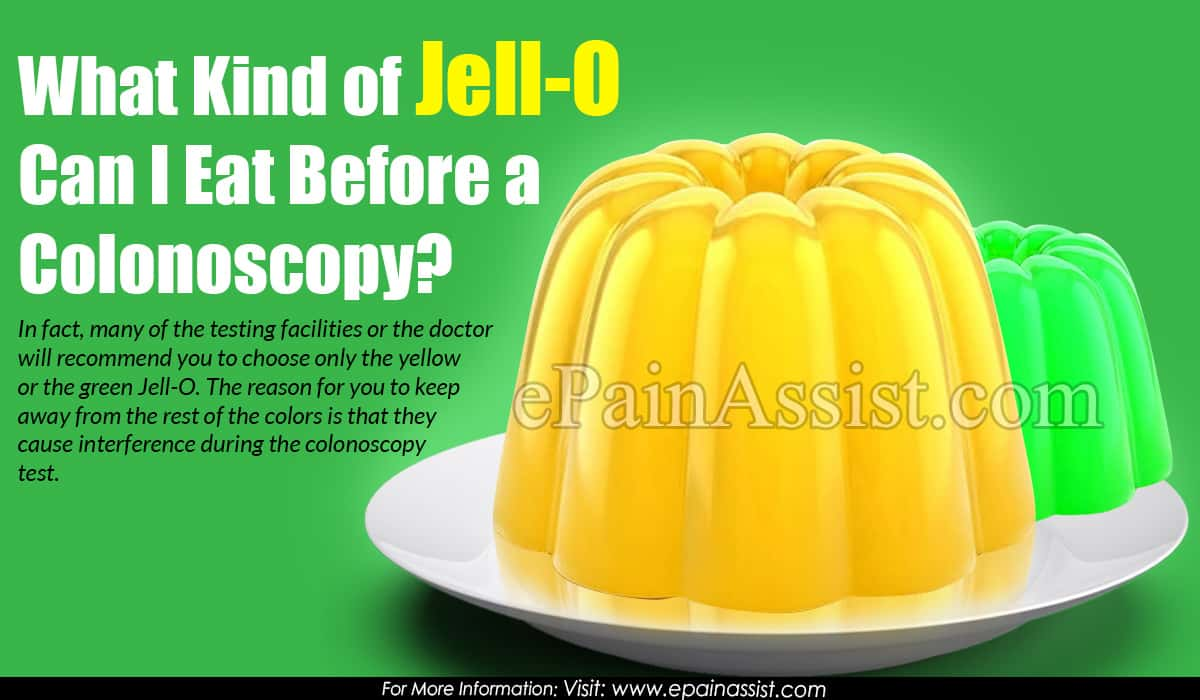 What Kind of Jell-O Can I Eat Before a Colonoscopy?