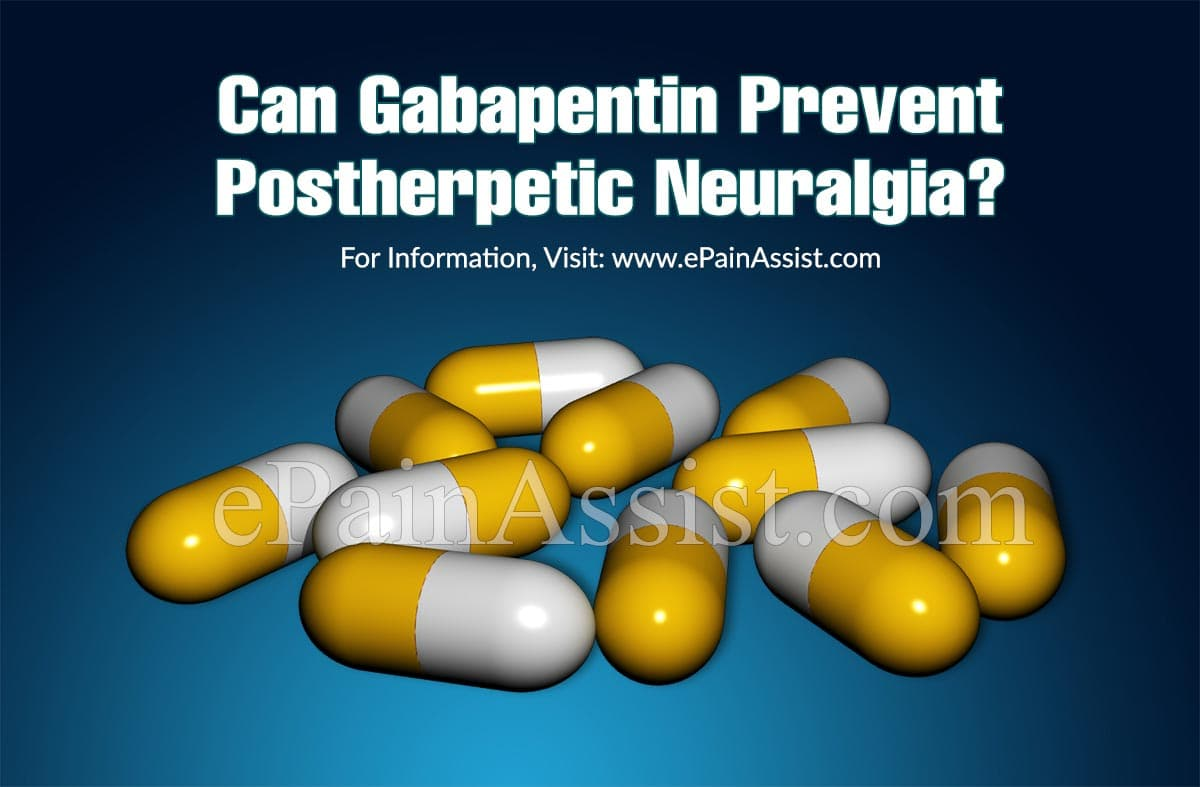 Can Gabapentin Prevent Postherpetic Neuralgia?