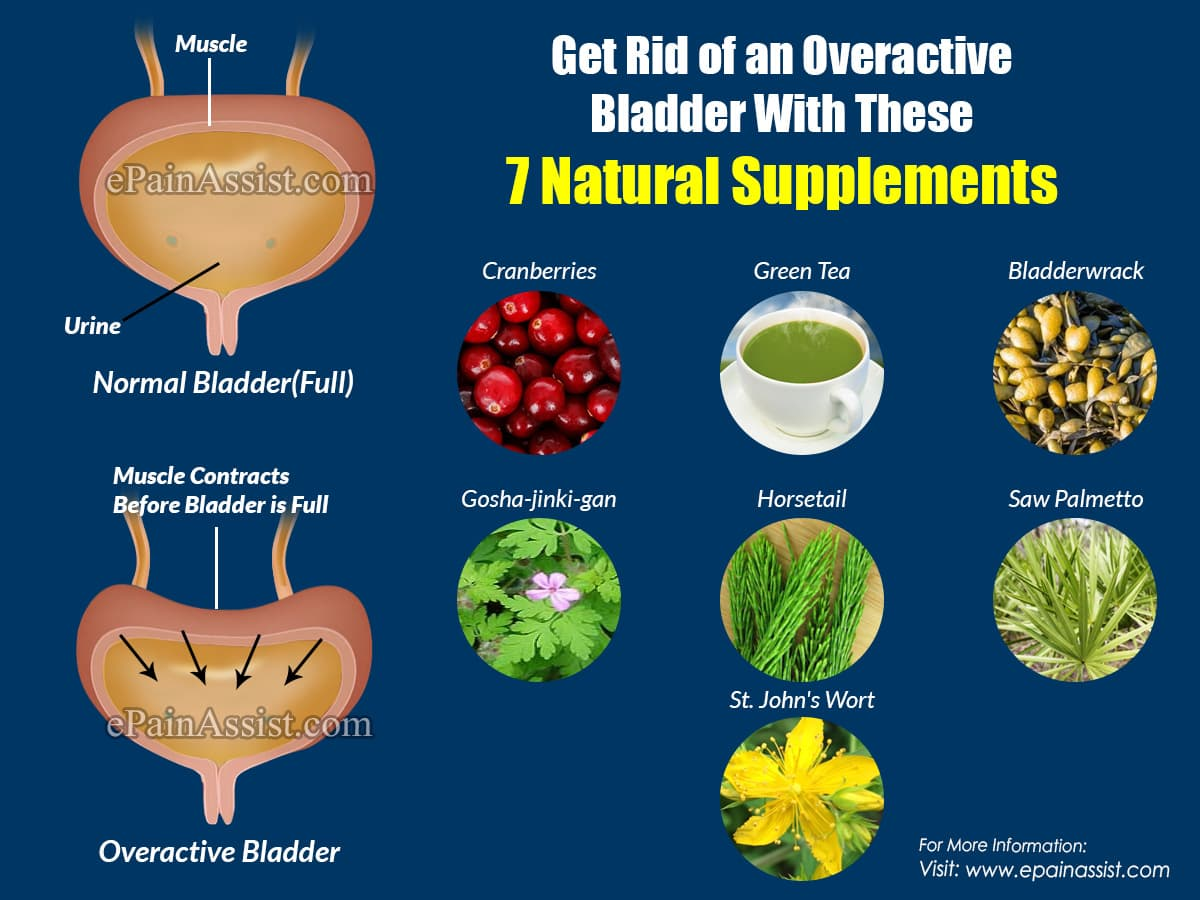 Get Rid of an Overactive Bladder With These  7 Natural Supplements