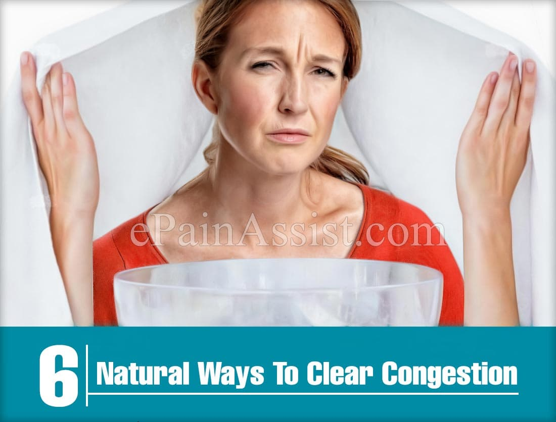 6 Natural Ways To Clear Congestion