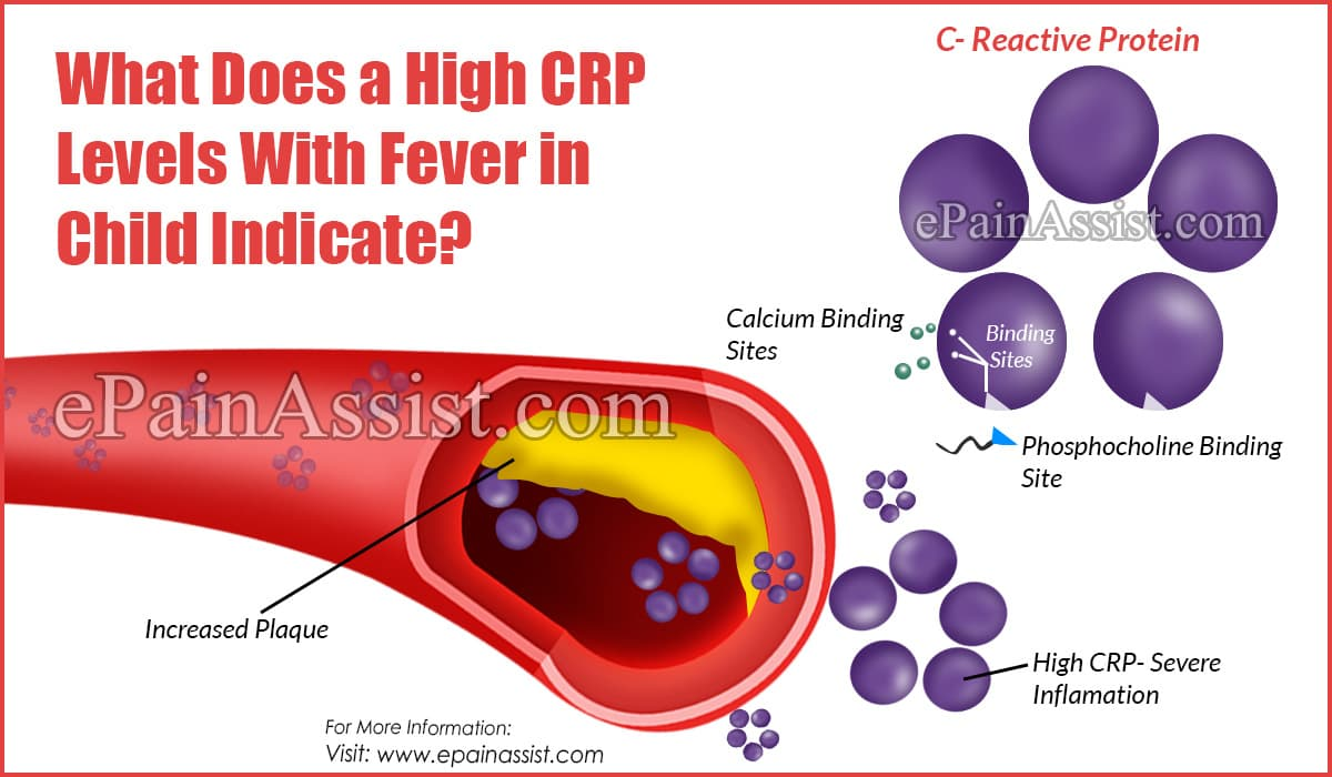 What Does a High CRP Levels with Fever in Child Indicate?