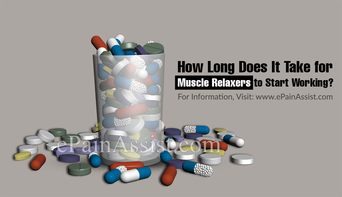 How Long does it Take for Muscle Relaxers to Start Working?