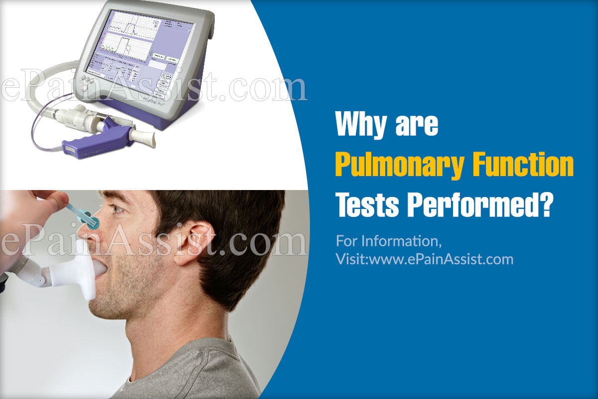 Why are Pulmonary Function Tests Performed?