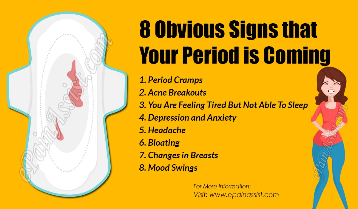 8 Obvious Signs that Your Period is Coming