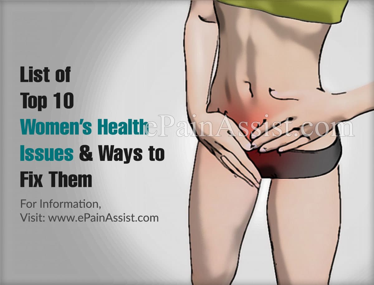 List of Top 10 Women's Health Issues & Ways to Fix Them