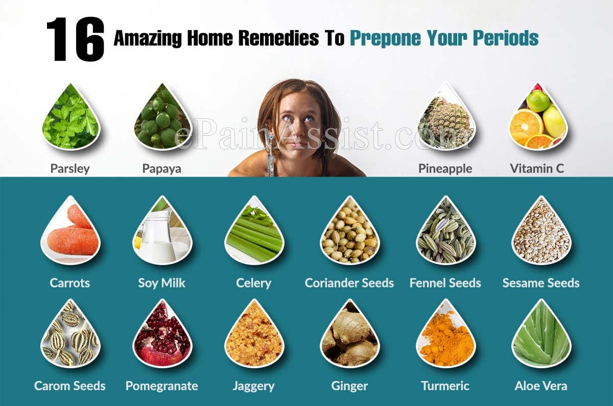 16 Amazing Home Remedies To Prepone Your Periods