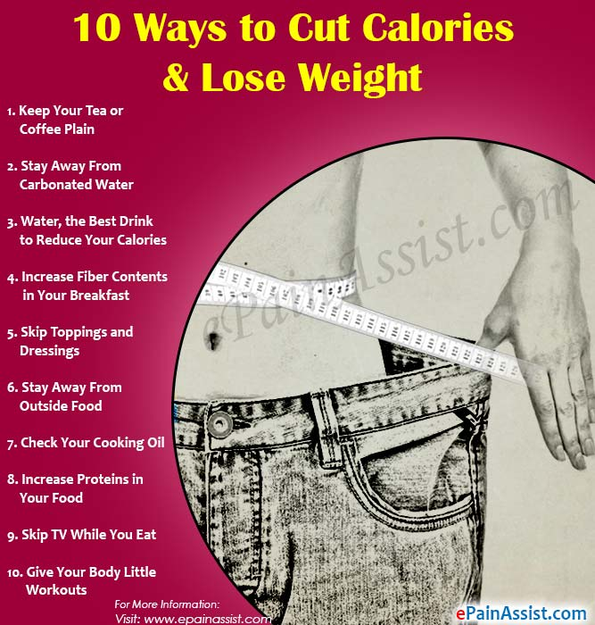 10 Ways to Cut Calories & Lose Weight