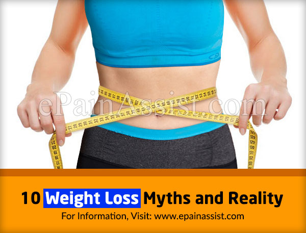 10 Weight Loss Myths and Reality