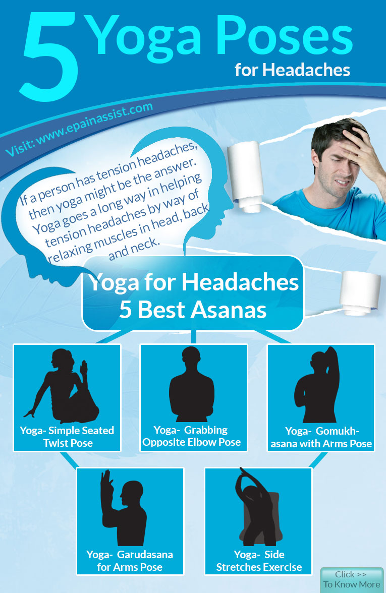 5 Yoga Poses for Headaches-Infographic