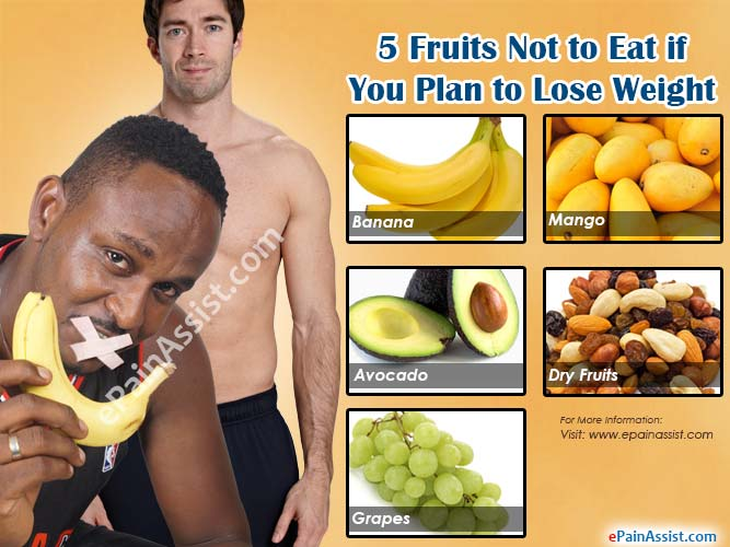 5 Fruits Not to Eat if You Plan to Lose Weight