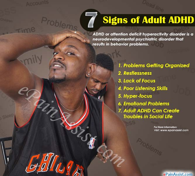 of adha in adults Signs