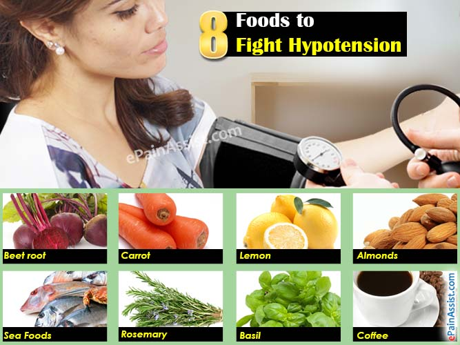 Plant-based diet for hypotension