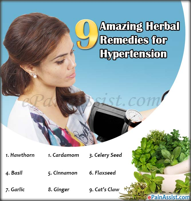 9 Amazing Herbal Remedies for Hypertension