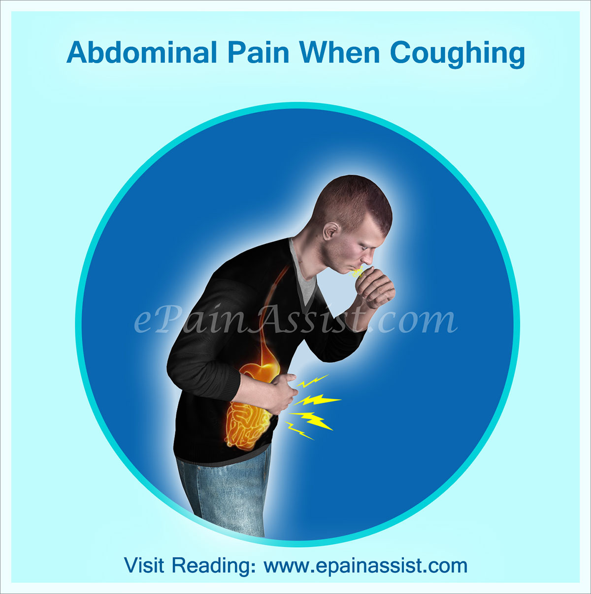 Sharp pain in lower right abdomen after sneezing