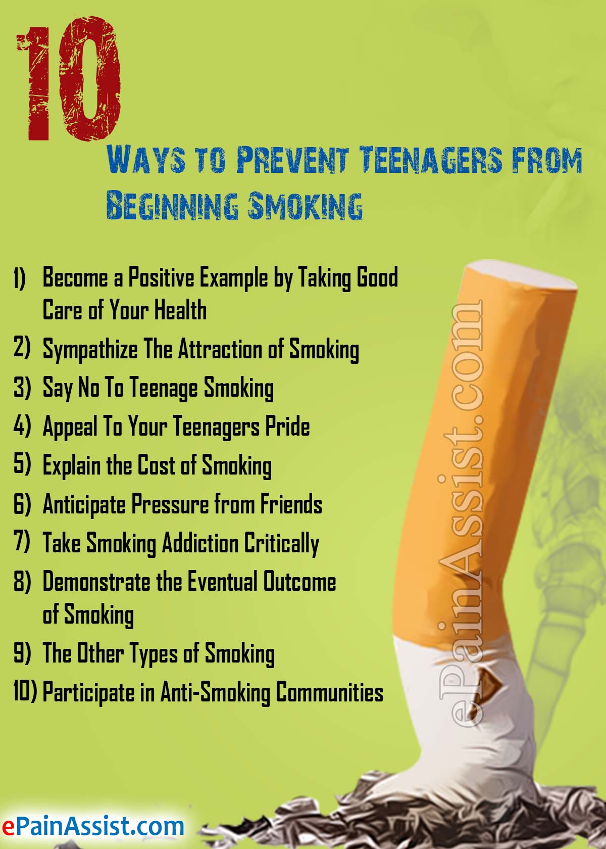 preventing teenage smoking essay Preventing teenage smoking purpose my purpose for this project is to prevent and stop teenage smoking smoking causes many health problems like.