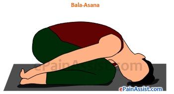 Balasana Or Child Pose Performed
