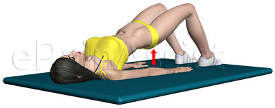 Bridging exercise is helpful for hip tendonitis