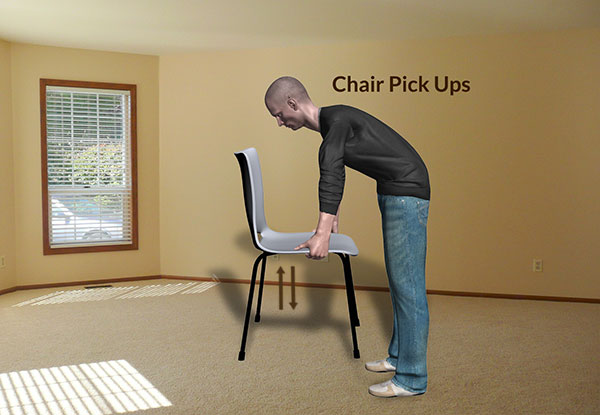 Workplace Workout: Chair Pick Ups Exercise
