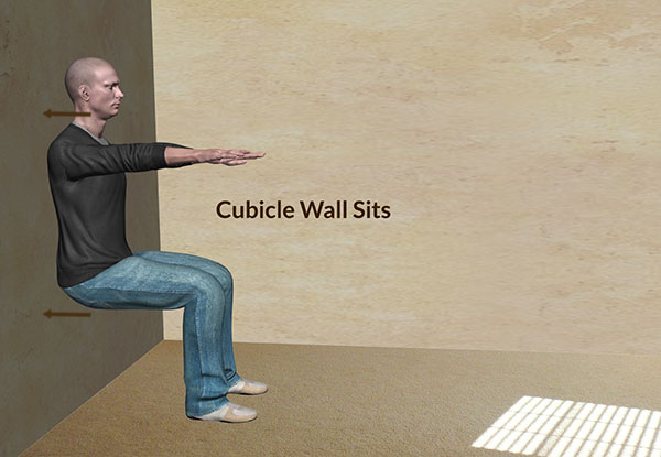 Workplace Workout: Cubicle Wall Sits Exercise