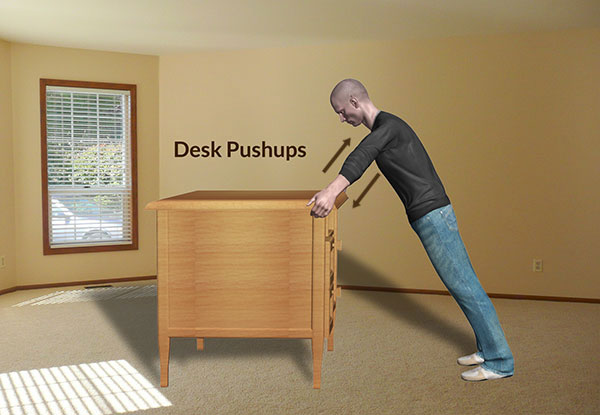 Workplace Workout: Desk Pushups Exercise