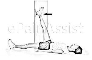 Hamstring Wall Stretch for Patellofemoral Pain Syndrome