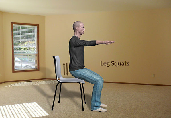 Workplace Workout: Leg Squats Exercise