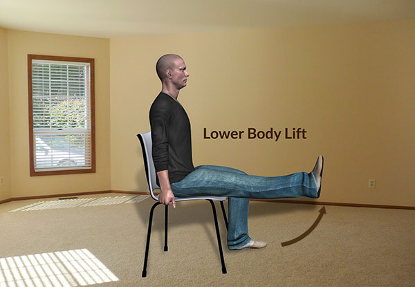 Workplace Workout: Lower Body Lift Exercise