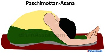 Paschimottanasana or Seated Forward Bend Yoga Pose for Scoliosis