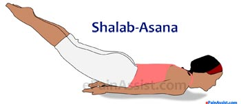 Shalabhasana or Locust Pose for Scoliosis or Spinal Curvature