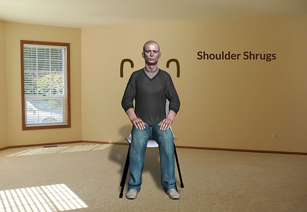 Workplace Workout: Shoulder Shrugs Exercise