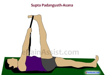 Supta Padangusthasana or Reclining Leg Stretch For Osteoporosis