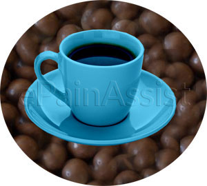 Caffeine containing products such as colas, coffee, tea, and chocolate should be completely eliminated from the diet