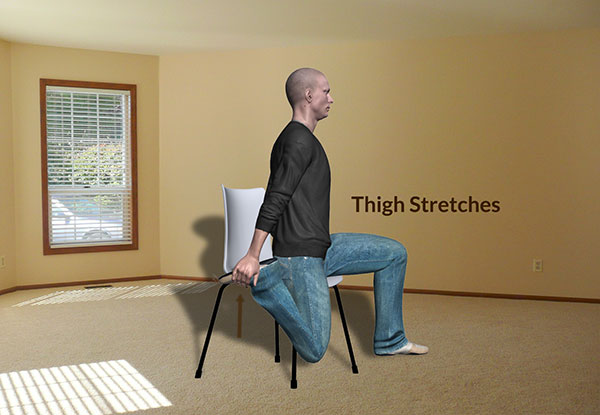 Workplace Workout: Thigh Stretches Exercise