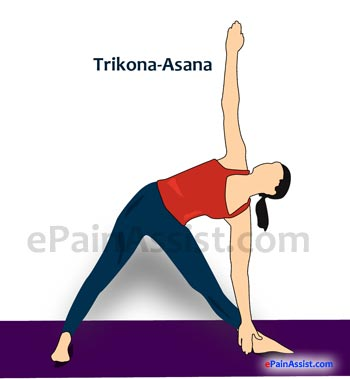 Triangle Pose or Trikonasana For Osteoporosis