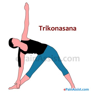 Trikonasana or Triangle Pose for Scoliosis or Spinal Curvature