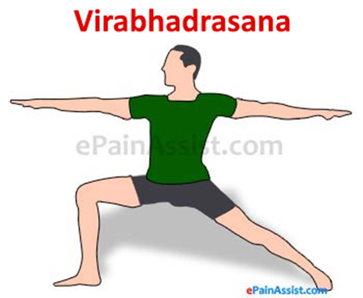 Virabhadrasana or Warrior Pose to Correct Scoliosis or Spinal Curvature