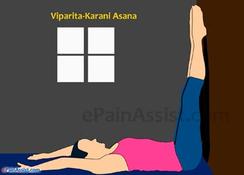 Viparita-Karani Asana Or Legs Up The Wall Pose Performed for Arthritis!