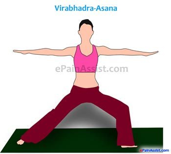 Warrior Pose or Veerabhadrasana or Virabhadrasana For Osteoporosis